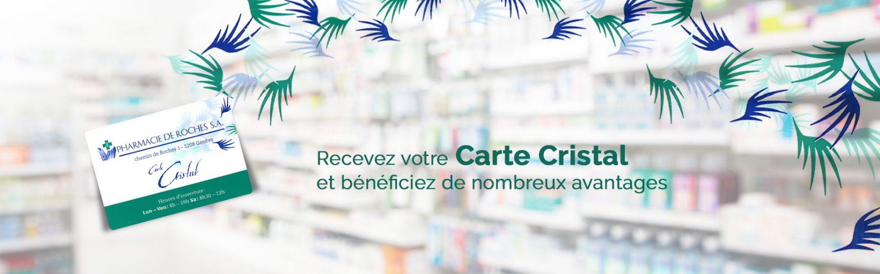 Pharmacie de Roches - Carte fidélité Cristal
